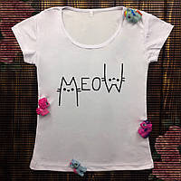Женская футболка  с принтом - Котики MEOW