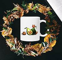 Чашка с принтом - Коты (Авокадо)
