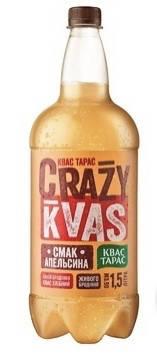 Квас Тарас 1,5л Crazy Kvas пет, фото 2