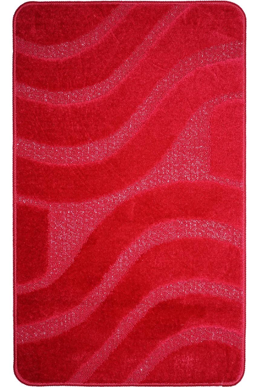 """Коврик для ванной 55х85 см """"Тихий океан """", красный"""