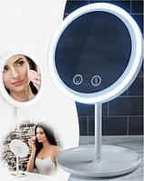 Круглое зеркало с подсветкой и вентилятором Beauty Breeze Mirror