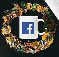 Чашка с принтом - Facebook