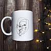 Чашка с принтом - Line art