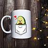 Чашка с принтом - Карман с авокадо