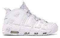 """Мужские Кроссовки Nike Air More Uptempo """"White On White"""" - """"Белые"""""""
