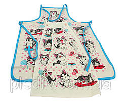 Набор для кухни Кошенята фартук, полотенце 30х50