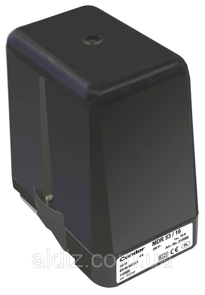 Реле давления Condor MDR-53/11 (прессостат) автоматика