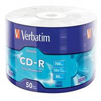 Оптические диски 50шт Verbatim CD-R 700Mb Wrap 43787