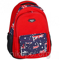 """Рюкзак школьный California """"M"""" Красный Флаг Англии, ортопедический, 42х29х16см."""