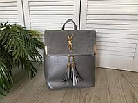 Женский рюкзак-сумка графит эко кожа и замш
