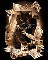 Картина по номерам Денежный кот Грошовий кіт 2 40*50см Rainbow Art GX8911 Розпис по номерах