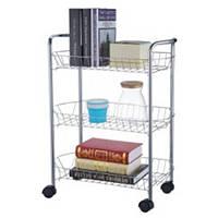 Этажерка кухонная на колесах STENSON 50 х 27 х 62 см (MH-3534)