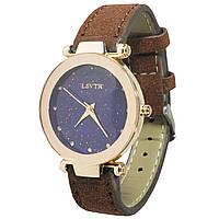 Модные часы LSVTR Fashion Brown для женщин и девушек кварцевый механизм стильный ремешок 2609-707, КОД: 1397958