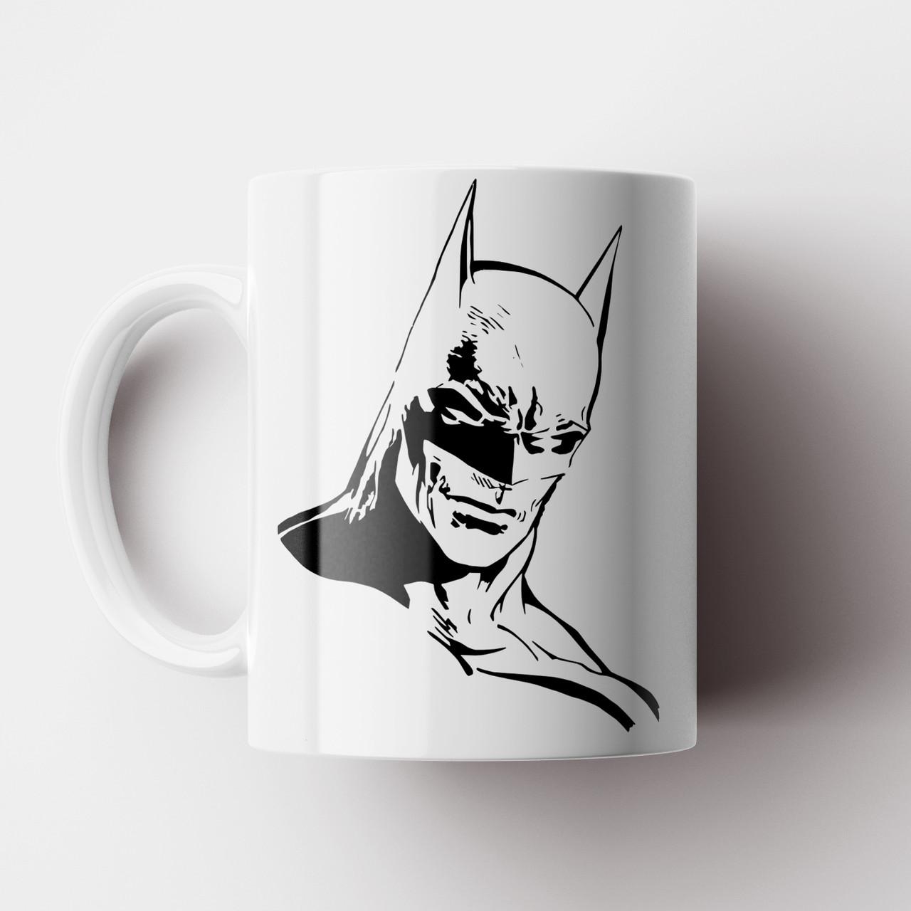Кружка с принтом Batman. Чашка с принтом Бетмен. Чашка с фото