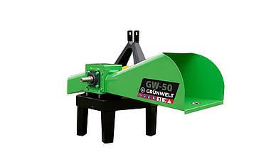 Измельчитель веток GrunWelt GW-50-4 (50 мм, 4 ножа, 7 л.с., ВОМ)