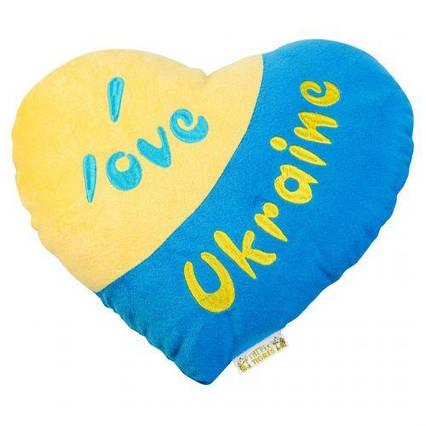 """Подушка-сердечко """"I love Ukraine"""" ПД-0121"""