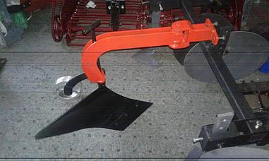 Плуг поворотный с регулируемым опорным колесом БелМет (регулировка угла атаки)
