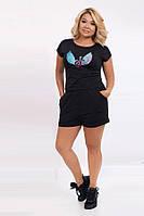 Костюм для отдыха футболка и шорты 6293 (42–50) в расцветках, фото 1