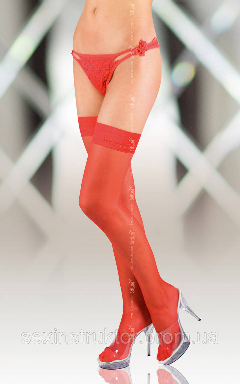 Чулки - Stockings 5513, red