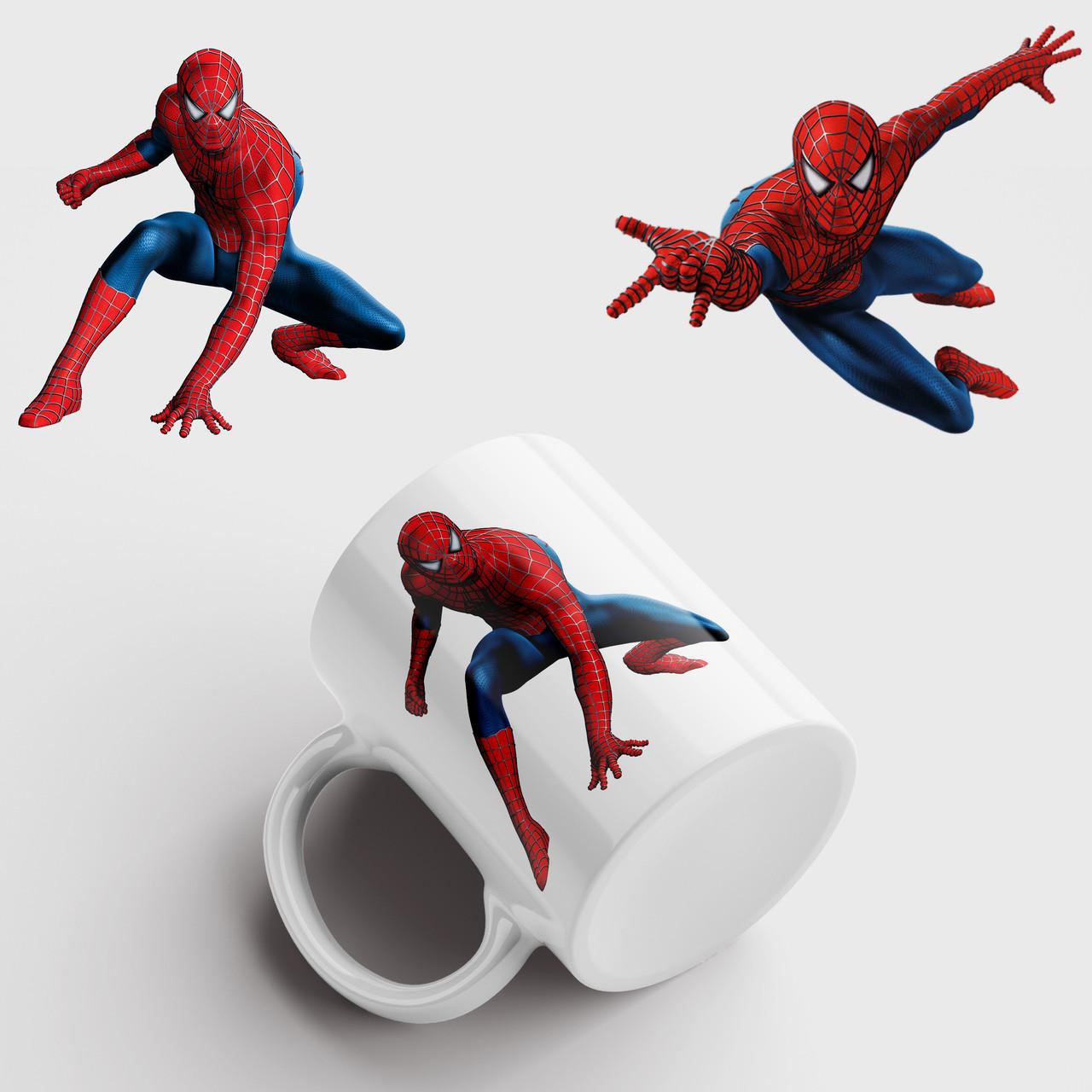 Кружка с принтом Человек паук. Чашка с принтом Spider-Man v3. Чашка с фото