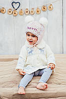 Детская зимняя шапка (набор) для девочек ЛУНА  оптом размер 46-48, фото 1