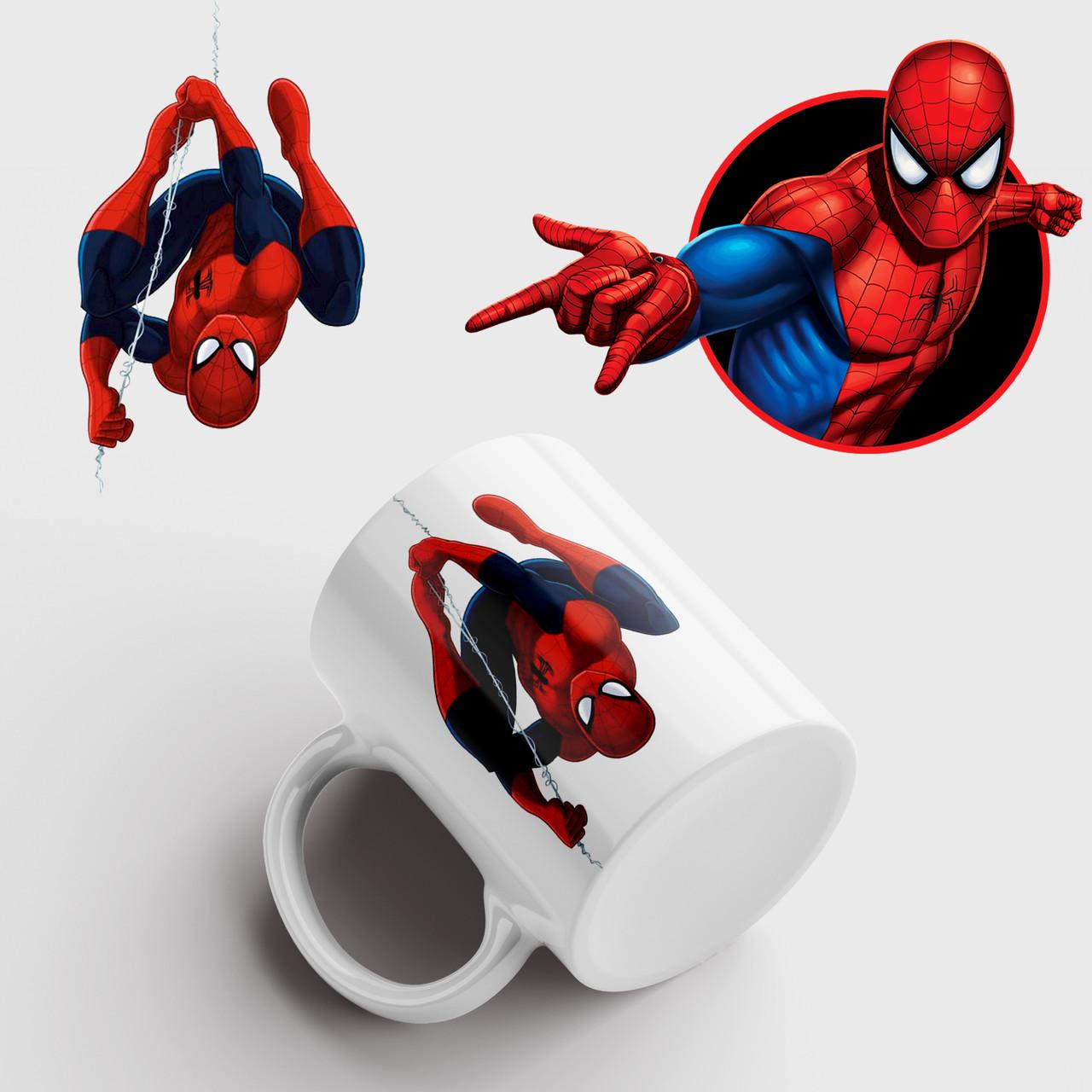 Чашка з принтом Людина павук. Чашка з принтом Spider-Man v7. Чашка з фото