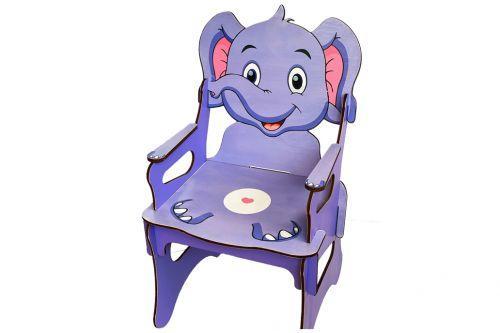 [0403] Стілець дитячий Tatev 57x32.5x32.5см Слон (0403)