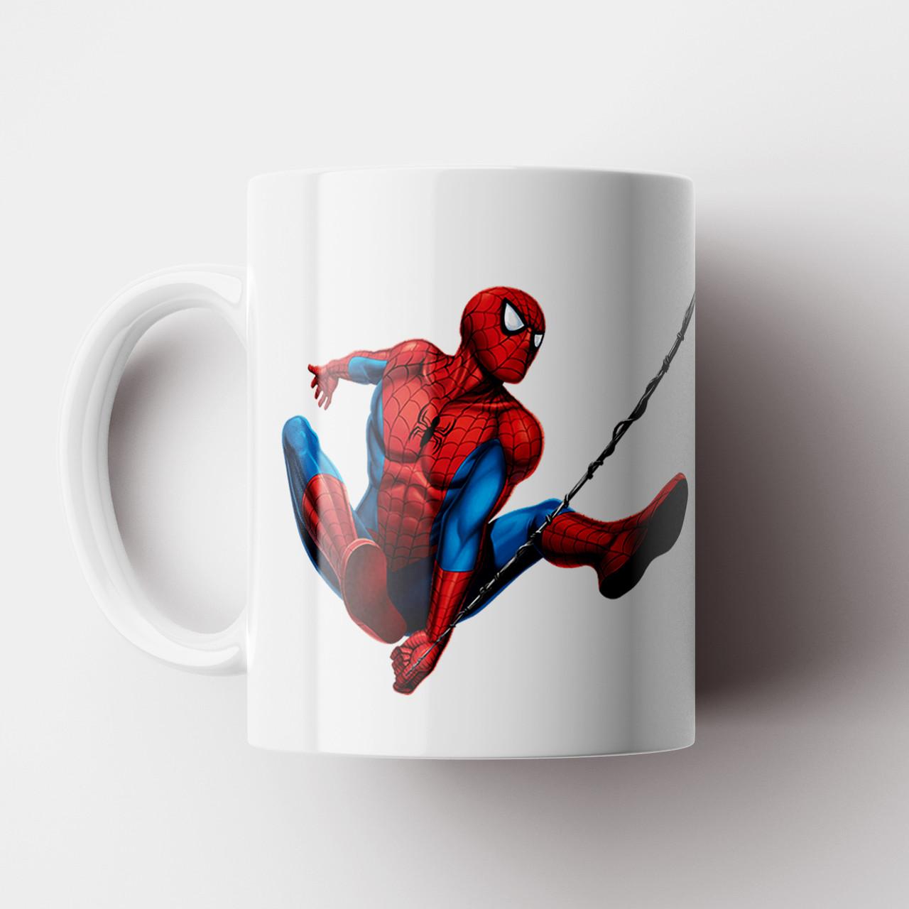 Кружка с принтом Человек паук. Чашка с принтом Spider-Man v10. Чашка с фото