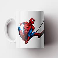 Кружка с принтом Человек паук. Чашка с принтом Spider-Man v10. Чашка с фото, фото 1