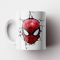 Кружка с принтом Человек паук. Чашка с принтом Spider-Man v12. Чашка с фото, фото 1