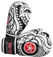 """Боксерские перчатки TopTen Design """"Dragon"""" черно-белый 10 oz"""