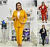 Р 50-54 Женский костюм пиджак с брюками  Батал 22063