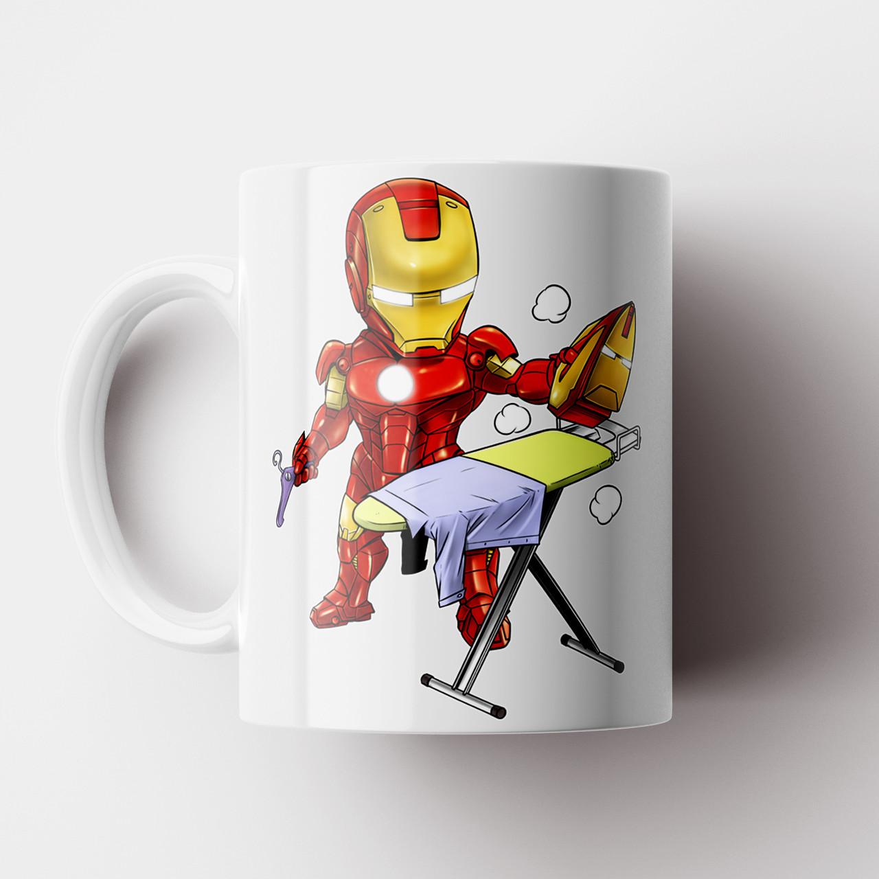 Кружка с принтом Железный Человек. Iron Man. Marvel. Чашка с фото