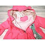 Ветровка для девочки малиновая Размер: 80-110 см, фото 4