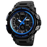 Оригинальные наручные часы Skmei 1343 Black-Blue | Оригинал Скмей, Гарантия 1 год!