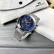 Оригінальні наручні годинники Megalith 8088M Silver-Blue   Оригінал Мегаліт, фото 3