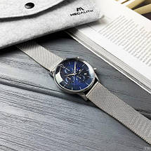 Оригінальні наручні годинники Megalith 8088M Silver-Blue   Оригінал Мегаліт, фото 2