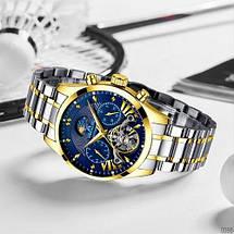 Оригінальні наручні годинники Megalith 8092M Silver-Cuprum-Blue   Оригінал Мегаліт, Гарантія 1 рік!, фото 2