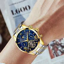 Оригінальні наручні годинники Megalith 8092M Silver-Cuprum-Blue   Оригінал Мегаліт, Гарантія 1 рік!, фото 3
