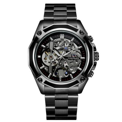 Оригинальные наручные часы Forsining 8130 Black-Silver | Оригинал Форсининг, Гарантия 1 год!
