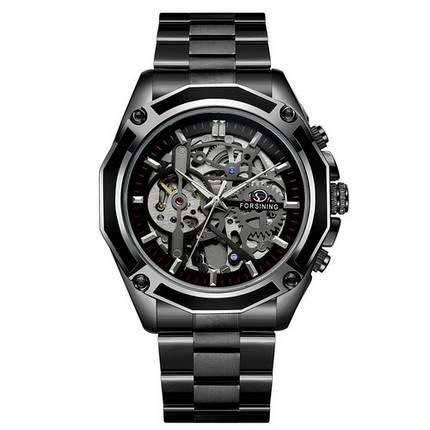 Оригинальные наручные часы Forsining 8130 Black-Silver | Оригинал Форсининг, Гарантия 1 год!, фото 2