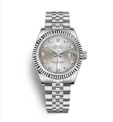 Наручний годинник ААА класу Rolex Datejust All Silver 31 mm, фото 2