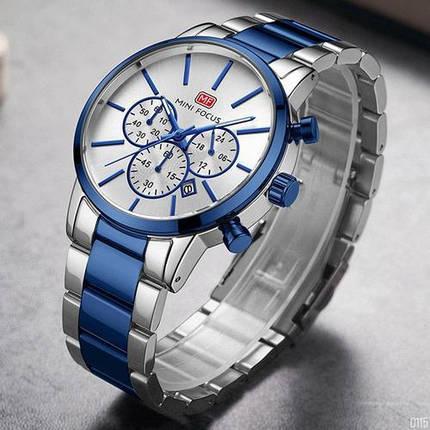 Оригинальные наручные часы Mini Focus MF0294G Silver-Blue   Оригинал Мини фокус, Гарантия 1 год!, фото 2