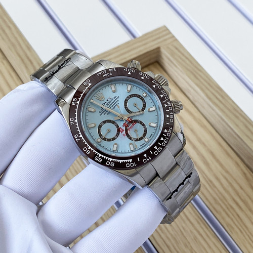 Наручные часы LUX класса Rolex Cosmograph Daytona Lux Silver-Brown-Blue
