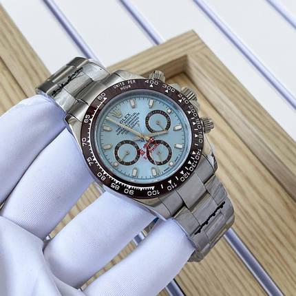 Наручные часы LUX класса Rolex Cosmograph Daytona Lux Silver-Brown-Blue, фото 2