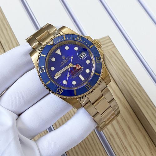 Наручные часы LUX класса Rolex Submariner Lux Date Gold-Blue