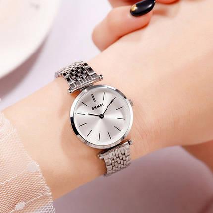 Оригінальні наручні годинники Skmei 1458 Silver-White | Оригінал Скмей, Гарантія 1 рік!, фото 2