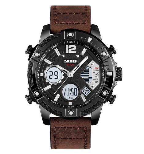 Оригінальні наручні годинники Skmei 1618 Brown-Black | Оригінал Скмей