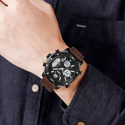 Оригінальні наручні годинники Skmei 1618 Brown-Black | Оригінал Скмей, фото 2