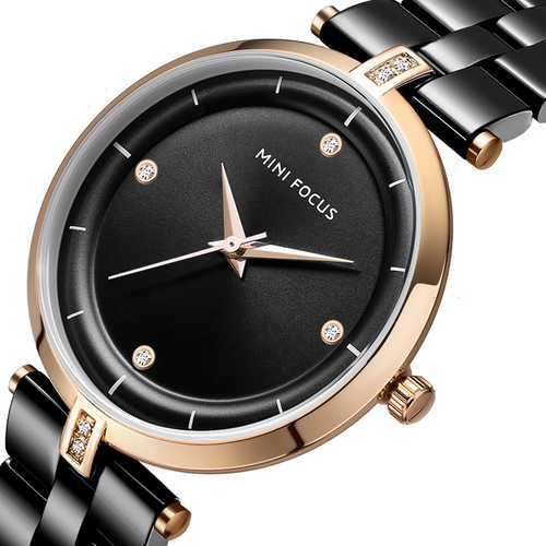 Оригинальные наручные часы Mini Focus MF0120L.02 Black-Cuprum Diamonds | Оригинал Мини фокус, Гарантия 1 год!
